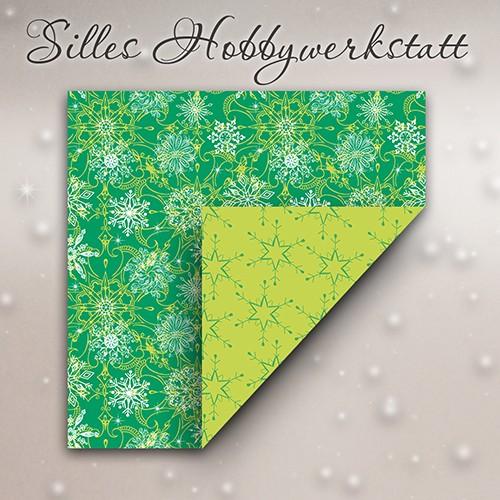 15x15 cm Faltblätter Eisig Grün