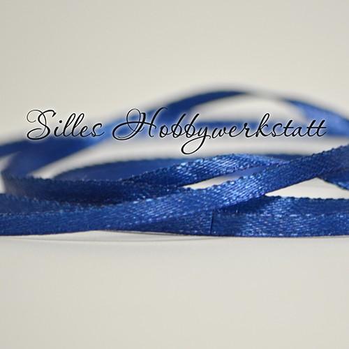 Satinband 3 mm Navy-Blau