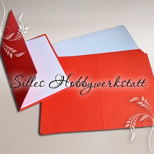 Doppelkarten A6 240 g Rot