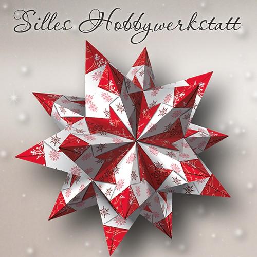 10x10 cm Origami Papier Eisig Rot
