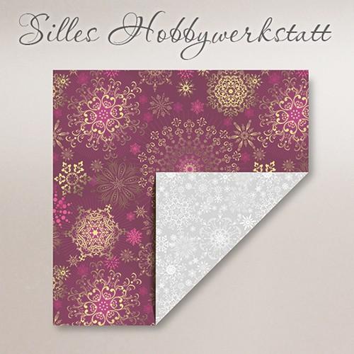 20x20 cm Faltpapier Eisig Lila