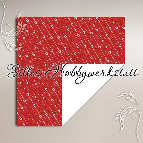 10x10 cm Bastelpapier Lovepearls Rot