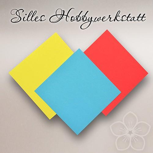 10x10 cm Origami Papier BLAU 80g