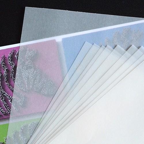 Einlegeblätter für A6 Karten, Transparent
