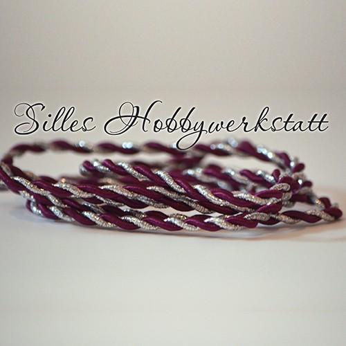 Satinkordel Lila-Silber