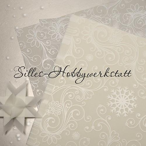 15x15 cm Bastelpapier Transparent Weiß2