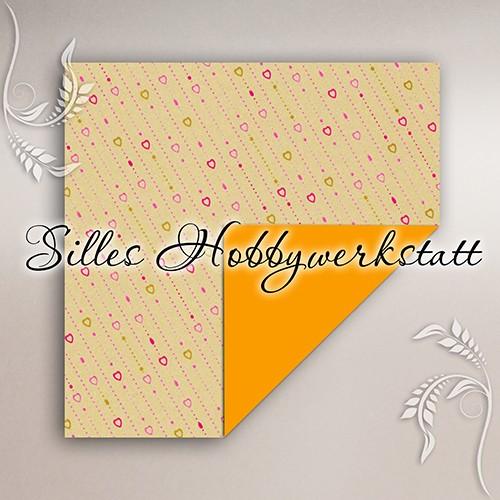 10x10 cm Bastelpapier Lovepearls Gelb