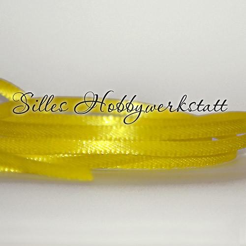 Satinband 3 mm Gelb