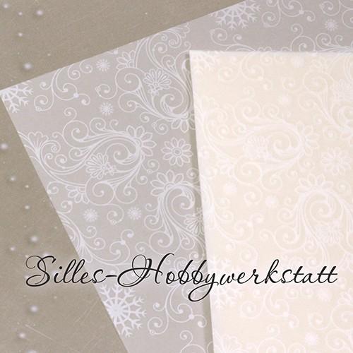 20x20 cm Bastelpapier Transparent mit Weiß