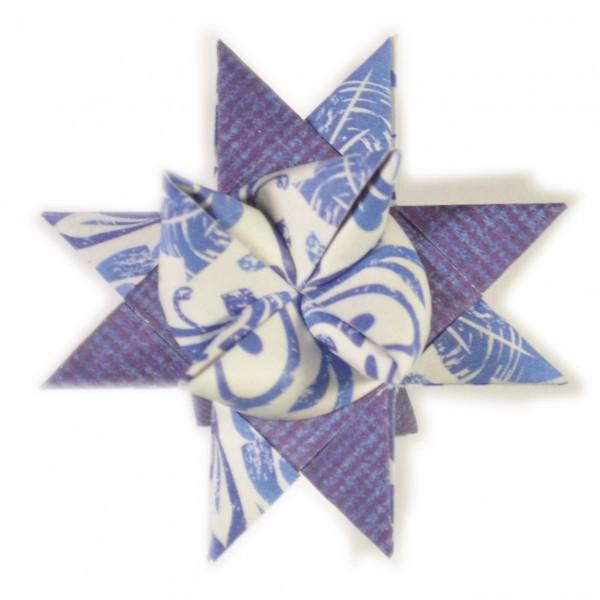 10 mm Faltstreifen Dama Blau