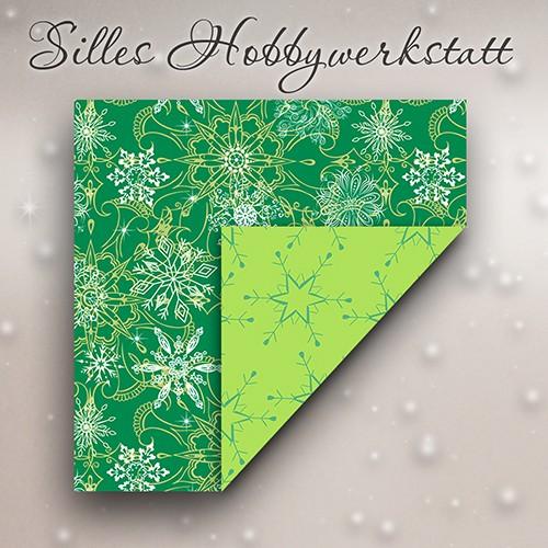 10x10 cm Faltblätter Eisig Grün