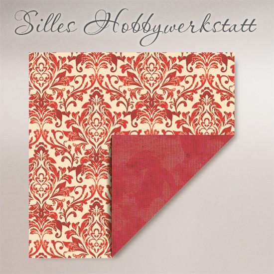 15x15 cm Faltpapier Dama Rot