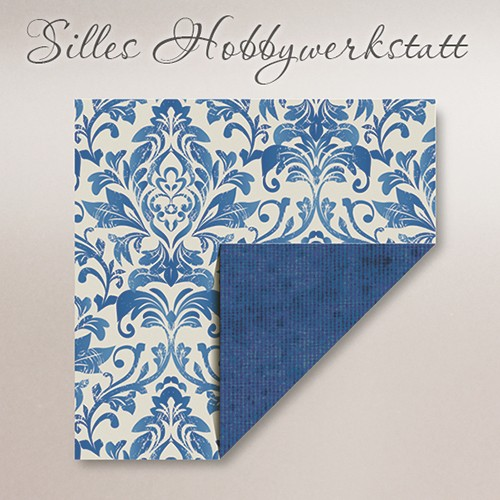 10x10 cm Faltblätter Dama Blau