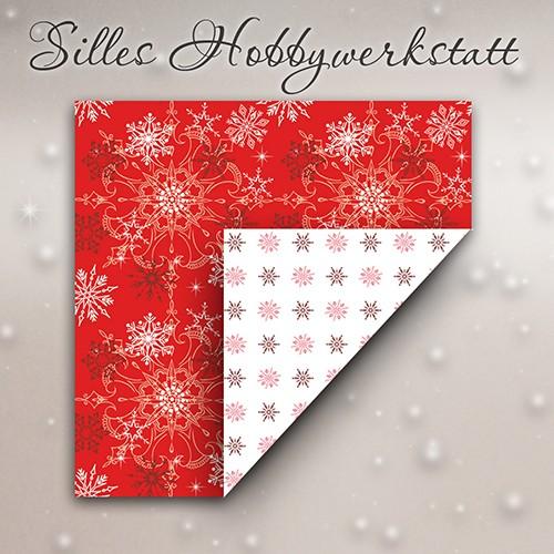 15x15 cm Faltblätter Eisig Rot