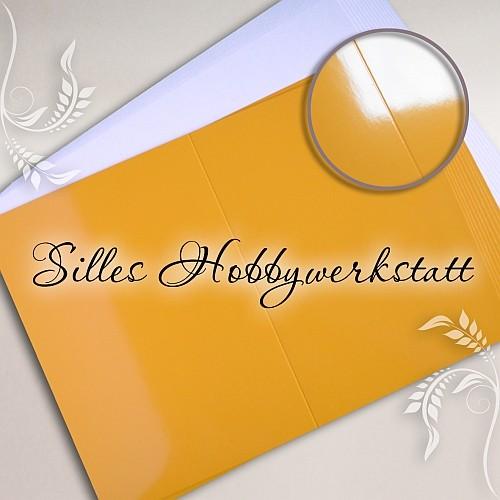 Doppelkarten A6 240 g Gelb Hochglanz
